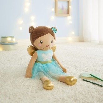 Your Zone Glow in The Dark 3D Plush Figural Pillow, Fairy Gold