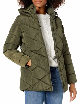 Big Chill Women's Diamond Quilted Faux Memory Puffer Jacket