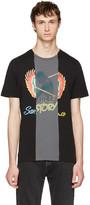 Maison Margiela Black Multi Graphic Slim T-Shirt