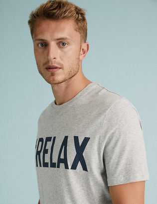 Marks and Spencer Pure Cotton Relax Graphic Pyjama Top