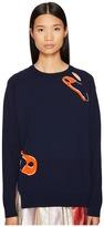 Sonia by Sonia Rykiel Intarsia Safety Pin Knit Sweater