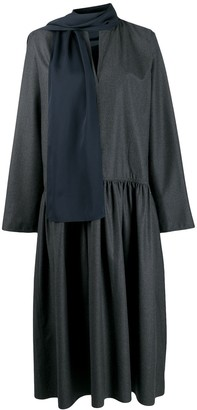 Sofie D'hoore pleated dress with scarf detail