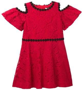 Kate Spade Cold Shoulder Lace Dress (Big Girls)