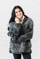 Rachel Parcell Charcoal Sherpa Pullover