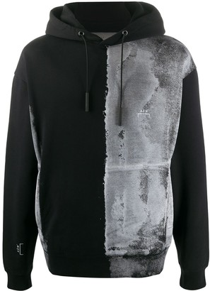 A-Cold-Wall* Brushed Bleach-Effect Cotton Hoodie