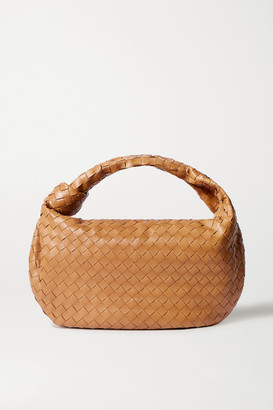 Bottega Veneta Jodie Small Knotted Intrecciato Leather Tote - Light brown