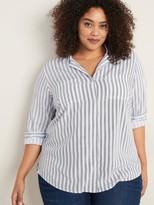Old Navy Striped No-Peek Plus-Size Tunic Shirt