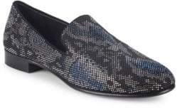 Giuseppe Zanotti Nailhead Leather Smoking Slippers