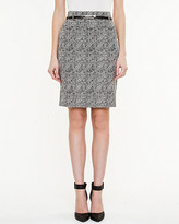Le Château Jacquard Belted Pencil Skirt