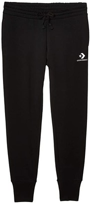 Converse Star Chevron Embroidered Pants Black) Women's Casual Pants