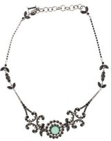 Christian Dior Aventurine Quartz & Crystal Collar Necklace