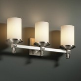 Luzerne 3-Light Vanity Light Brayden Studio Shade Color: Mercury, Finish: Brushed Nickel