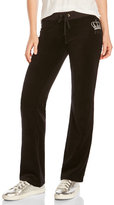 Juicy Couture Crystal Crown Velour Track Pants