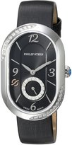 Philip Stein Teslar Women's 'Modern' Swiss Quartz Stainless Steel and Leather Dress Watch, Color: (Model: 74SD-FDB-IB)