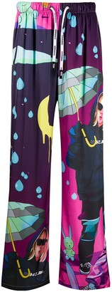 DUOltd Graphic Print Drawstring Trousers