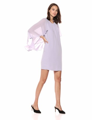 BCBGMAXAZRIA Azria Women's Cape-Sleeve A-Line Dress