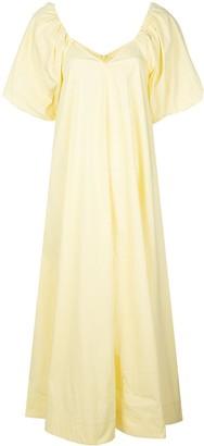 Co Oversized Balloon Sleeve Dress