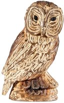 GII Hand Carved Wooden Owl Figurine, 10 Inch