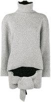 Balenciaga Draped knitted top - women - Polyamide/Polyester/Viscose - 34