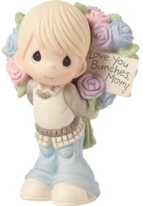 Precious Moments Love You Bunches Mom Boy Figurine Bisque Porcelain 183005