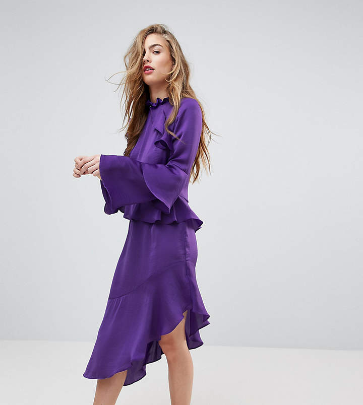 Miss Selfridge Asymetric Ruffle Dress