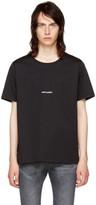 Saint Laurent Black Rive Gauche T-shirt