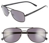 BOSS Men's '0762/s' 58Mm Polarized Navigator Sunglasses - Matte Black