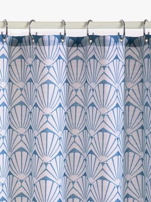 John Lewis & Partners Scallop Shell Slub Shower Curtain
