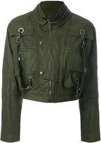 Moschino cropped jacket - women - Cotton/Polyester/Viscose - 40