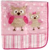 Luvable Friends Fluffy Plush Baby Blanket with Satin Trim, Pink