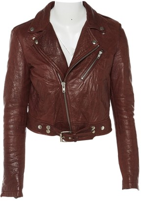BLK DNM Red Leather Jackets