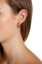 Botkier Front Back V Drop Earrings