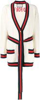Gucci oversized embroidered cardigan - women - Cotton/Polyamide/Spandex/Elastane - XS