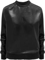 Givenchy Black Soft Nappa Leather Sweatshirt - FR34