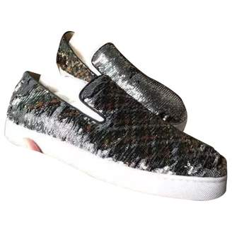 Christian Louboutin Silver Glitter Trainers
