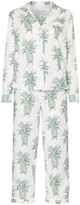 Desmond & Dempsey Howie pineapple-print cotton pyjama set