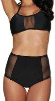 Ebuddy High Waist Bikini Set Bathing Suit Swimsuit Swimwaer Beachwear (, M)