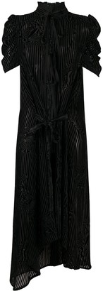Ann Demeulemeester Asymmetric Hem Tie Neck Dress