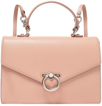 Rebecca Minkoff Chain-trimmed Pebbled-leather Backpack