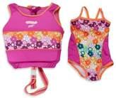 Aqua Leisure Girls' Medium/Large 2-Piece Swim Trainer in Pink