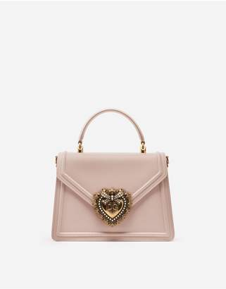Dolce & Gabbana Medium Devotion Bag In Smooth Calfskin