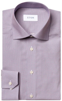 Eton Contemporary-Fit Micro-Print Cotton Shirt