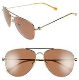 Loewe Women's 'Chronos' 60Mm Polarized Aviator Sunglasses - Havana/ Gold