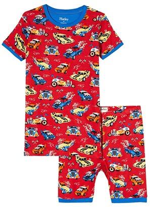 Hatley Hot Rods Organic Cotton Short PJ Set (Toddler/Little Kids/Big Kids) (Red) Boy's Pajama Sets