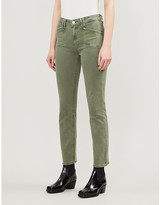 Paige Cindy high-rise cotton-twill trousers