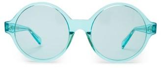 Celine Oversized Round Acetate Sunglasses - Womens - Light Blue