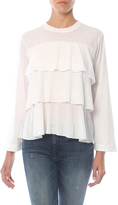 David Lerner Bell Sleeve Tiered Ruffle Top
