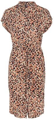 Pieces Animal Print Shirt Dress