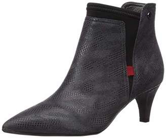 Marc Joseph New York Women's Leather Made in Brazil 2.25 Inch Heel Ankle Bootie with Elastic Detail Loafer