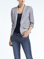 Banana Republic Windowpane Chambray Blazer